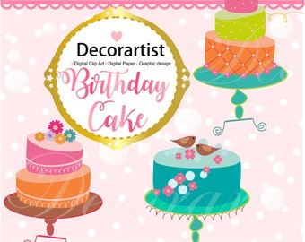 ON SALE clipart, INSTANT Download,Cake clipart, cakes 2, card making, scrapbooking, invitation, cakes