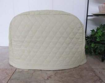 Light Sage Green Quilted 2 Slice Toaster Home Decor Cover Ready to Ship