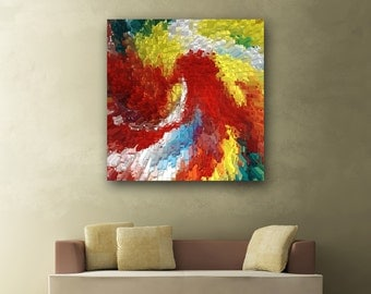 Large Painting - Colourful Artwork - Modern Art - Abstract Art - Petals (Eye of the Storm) Recycled --