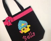 Personalized Tote Bag, Personalized Tote, Shopkins Tote Bag, Shopkins Tote, Shopkins Gift, Personalized Shopkins, Cupcake, Chocolate, Apple