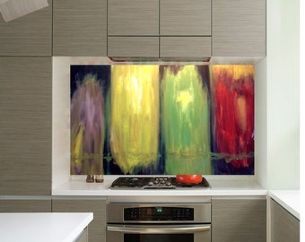 contemporary color block (36x48 canvas painting )