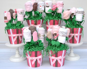 baby girl centerpiece set baby shower decorations girl baby shower