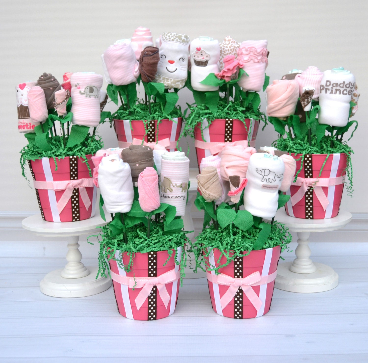 Baby shower decorations baby girl centerpiece set girl for Baby shower decoration set