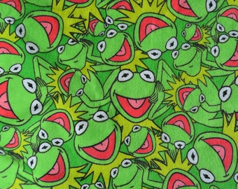 Vintage Fabric - Kermit the Frog Flannel - 43 x 24