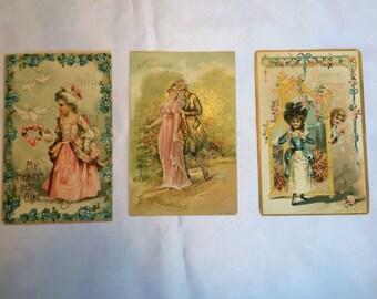 Antique Victorian Valentine Postcards