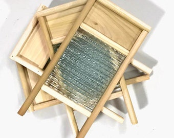 Glass Washboard for Fulling Wool