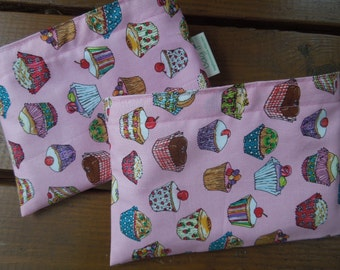 Reusable snack bag - Cupcakes