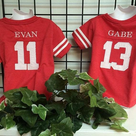 GreatStitch Football Jersey Tshirt 1st Or 2nd Birthday Boy