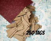 "250 Mini Kraft Tags ... Heavyweight Chipboard 1/2"" x 2"" Price Tags Hang Tags Blank Tags Etsy Seller Supplies Merchandise Tags Bulk Quantity"