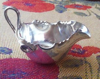 Antique Dixon Silverplated Fancy Creamer, James Dixon Silver, Sheffield England Silverplate, Fancy Lily Design Creamer, Victorian Silver