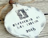 Big Sister Ornament - Big Sister Gift - Big Brother Ornament - Big Brother Gift - Personalized Gift - Wood Christmas Ornament - Keepsake