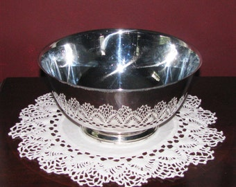 Vintage Oneida Paul Revere style silver bowl