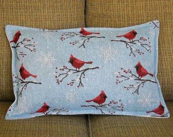 Cardinal Pillow Winter Pillow Tapestry