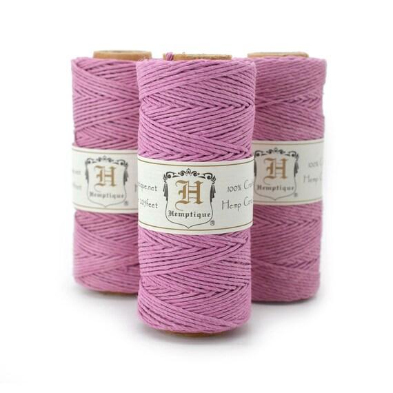 Pink HempTwine,  1mm Cord, 205 feet,  Pink Hemp Twine,  Party Twine, Pink Twine  -T24