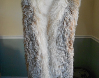 Multi Brown Fox Fur Scarf  / Large Collar / Boa Wrap / Stole Shawl