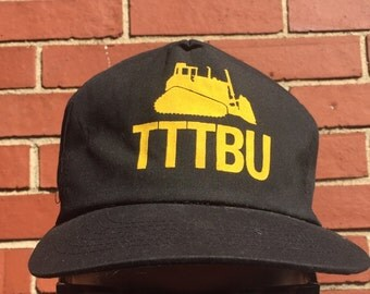 """Vintage """"TTTBU"""" tractor snap back hat  black"""