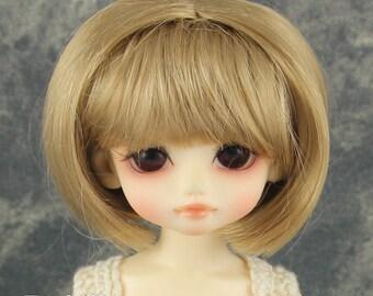 """Fatiao - New Dolls Wig Dollfie Yo-SD 1/6 BJD 6-7"""" size Baby Brown"""