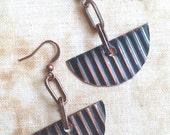 Geometric Copper Earrings