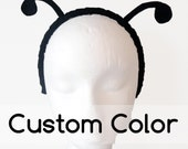 Simple Antenna. You Choose Color. Butterfly Bug on Metal Headband. Felt. Halloween, Purim.