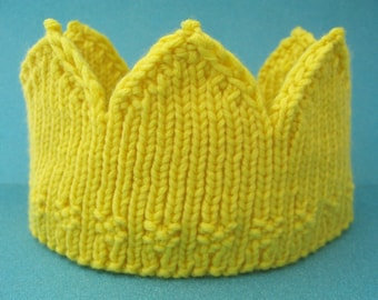 Child size birthday crown - yellow