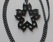 Black glossy Black  Veil Brides inspired necklace