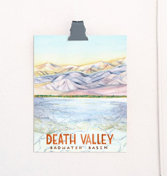 Death Valley, California National Parks Travel Poster
