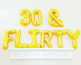30 & Flirty, 30th Birthday Party, 30th Birthday Theme, Turning 30, 30, 30th Bday,Thirty and Flirty,Feeling Flirty at 30,30th Bday Decoration