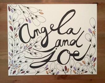 Custom Name Illustration- Botanical