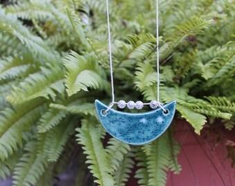 ceramic necklace - bluebonnets
