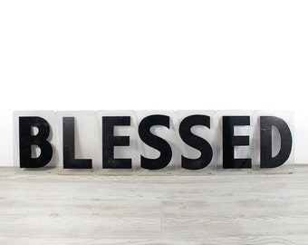 BLESSED - Vintage Acrylic Marquee - 8 Inch Clear Plastic Letters