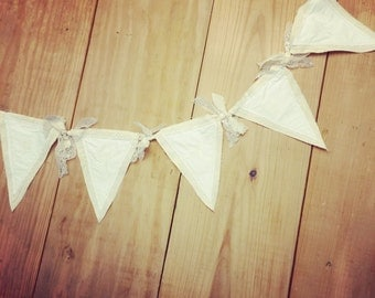 Embroidered GRACE shabby chic pennet banner