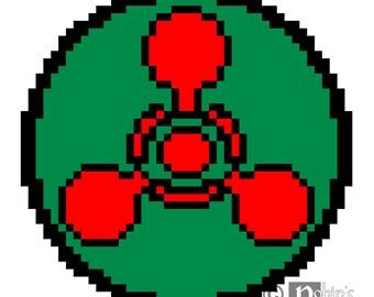 Chemical Hazard Symbol Cross Stitch Pattern for Shirt Patch PDF