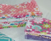 GIRLY PRINTS, Eco Friendly, Cloth Baby Wipes, Set of 100