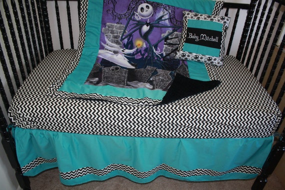5pc Turquiose Nightmare Before Christmas Baby Set by bedbugscreations