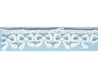 "5/8"" Venise Lace by the Yard TRI08860 Small Ribbons White"