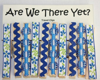Are We There Yet? Travel Clips w/ Ribbon Embelishment *FREE SHIPPING*