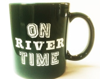 On River time-Coffee Mug- GREEN