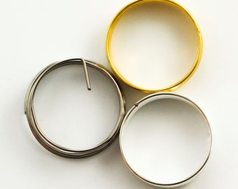 Best Ring Memory Wire - Stainless Steel, Silver Plate or Gold Color - 100% Guarantee