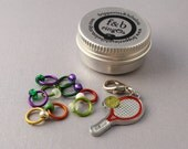 ringOs Anyone for Tennis? - Limited Edition - Snag-Free Ring Stitch Markers for Knitting