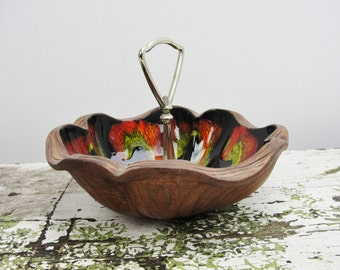 Sequoia Ware Candy Dish with center handle by American Bisque Co.