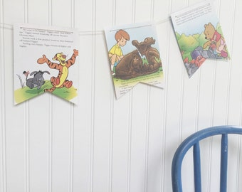 winnie the pooh flag banner {eeyore, be happy}