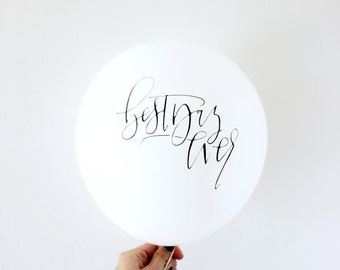 Best Day Ever Calligraphy Balloons