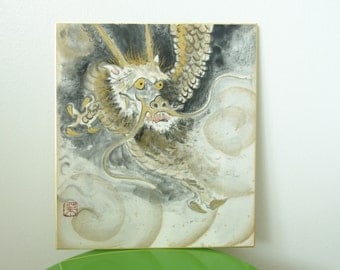 Dragon Picture Japanese Home Decor Original Painting