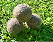Felted Heritage Wool Dryer Balls for Eco Laundry Softening and Energy Efficiency