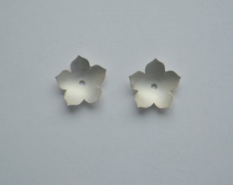 Silver Earrings Jackets, petal jackets, petal earrings, petal studs, jacket studs, large studs, gifts for moms