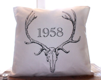 Vintage Antler Pillow