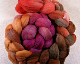 Cinnamon Girl 1 merino wool top for spinning and felting (4.1 ounces)