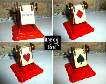 1920s Celluloid NO TRUMP Bridge Card Game Suit Marker.