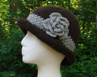 Rolled Brim Cloche - PA-130 - Crochet Pattern PDF
