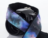 Galaxy Camera Strap 16-3, OOAK Hand painted, One of a Kind, dSLR or SLR, Cosmos, Nebula, Space, Quick Release